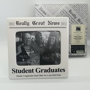 New in Box Graduation Ceramic Photo Frame